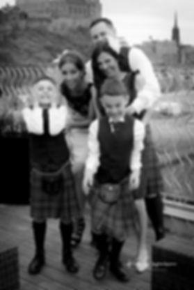 Family Laughing Edinburgh Wedding Photographer