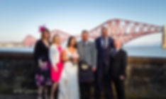 bridal party in front of forth rail bridge