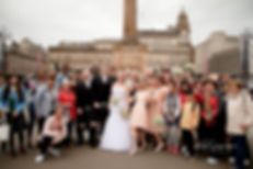 Wedding Group Shot Edinburgh Wedding Photographer