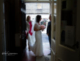 bride talking to father