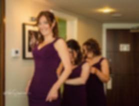 bridesmaids in dresses