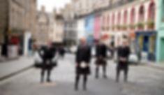 Groom and Best Men Edinburgh Wedding Photographer