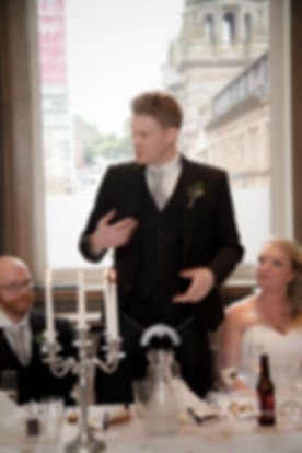 Groom Speech Edinburgh Wedding Photographer