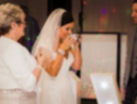 bride drinking from quaith