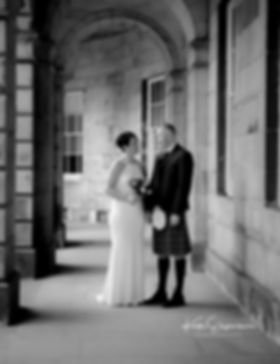 Bride and Groom Edinburgh Wedding Photographer