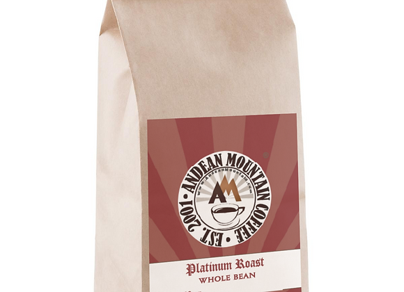 12 oz. Gourmet Platinum Roast Whole Bean Coffee