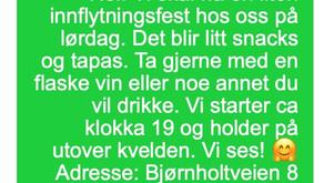 SMS - Innflytningsfest! - A2/B1