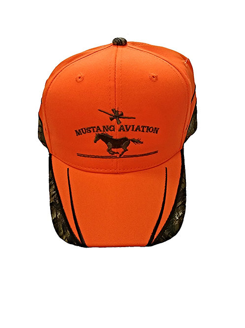 Hunter Orange Hat with Camo Trim