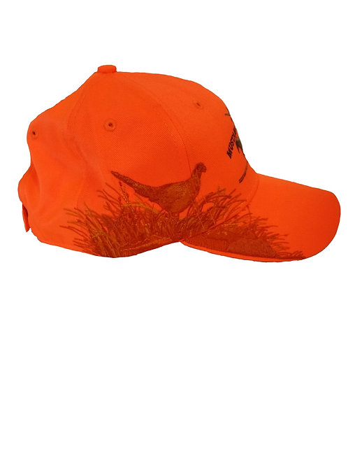 Hunter Orange Hat with Pheasant Embroidery