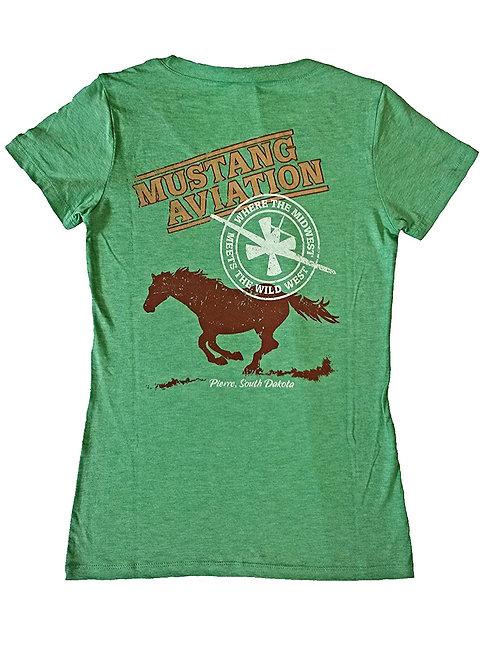 Women's Green T-Shirt - Slim Fit