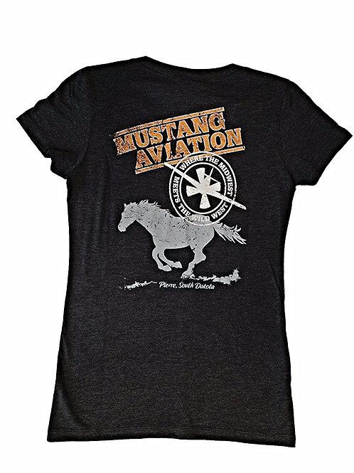 Women's Grey T-Shirt Grey Chest Logo - Slim Fit