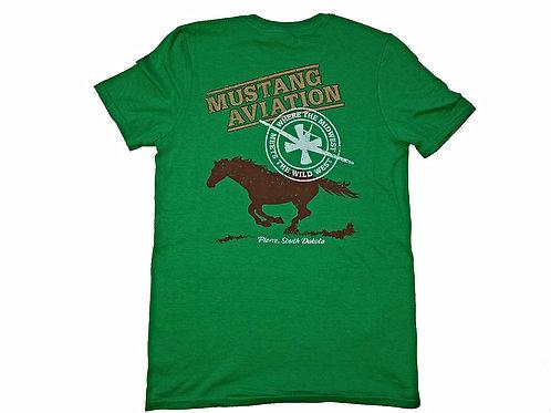 Men's Green T-Shirt - Slim Fit