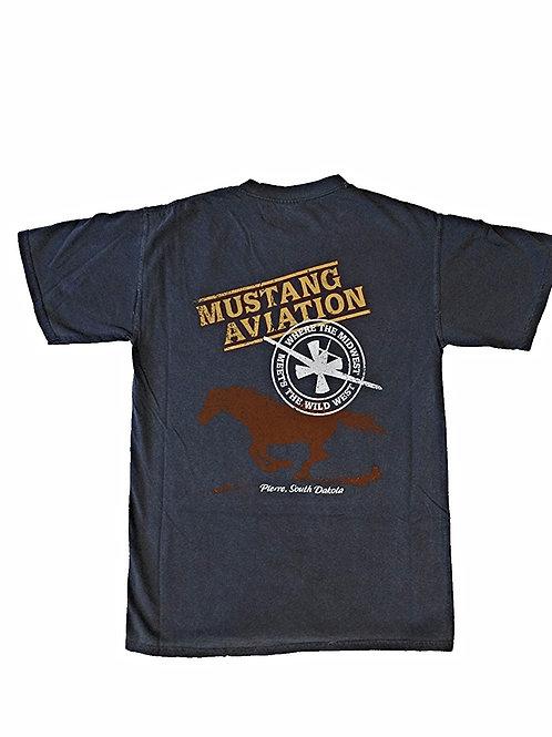 Men's Vintage Blue T-Shirt - Regular Fit