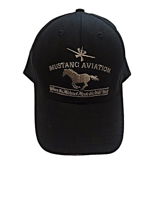 Black Hat with Gun Metal Embroidered Logo