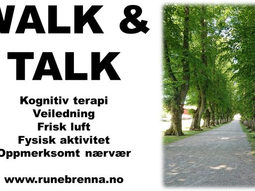 Walk & Talk - terapi og veiledning med frisk luft som samtalerom.