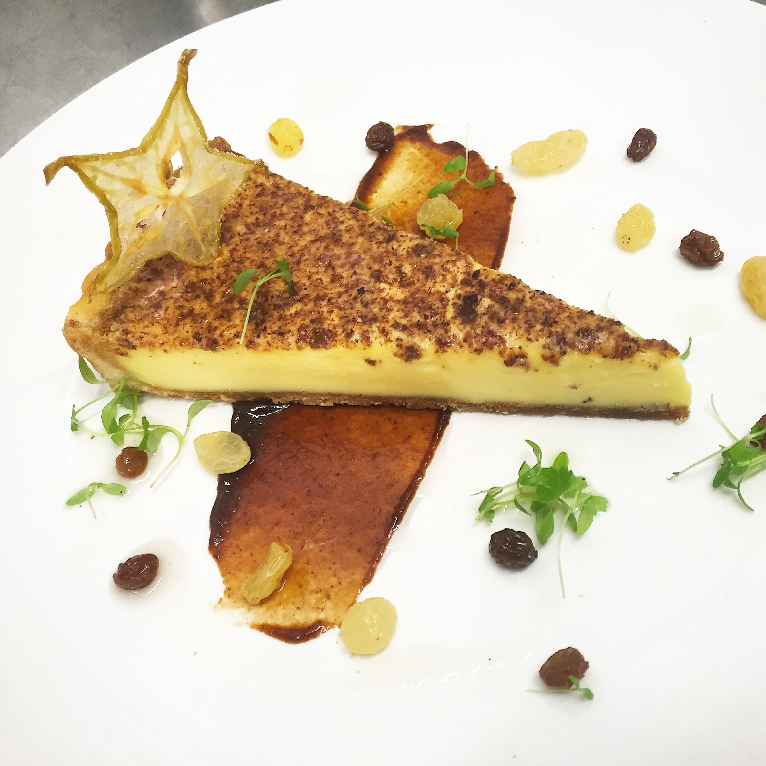 Spiced custard tart
