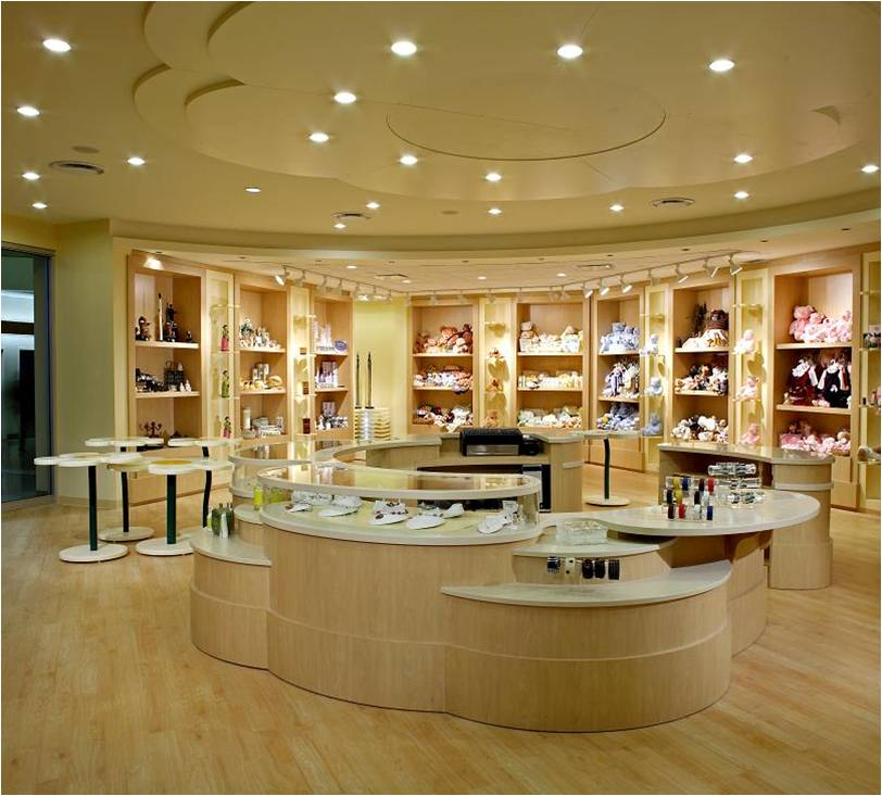 Credit Valley Hospital, Hospital Gift Shop, Cash Desk, Store Design, Lighting De