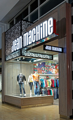 Jean Machine, Denim, Storefront, Yorkdale, Toronto, Store Design, Art, Retail De