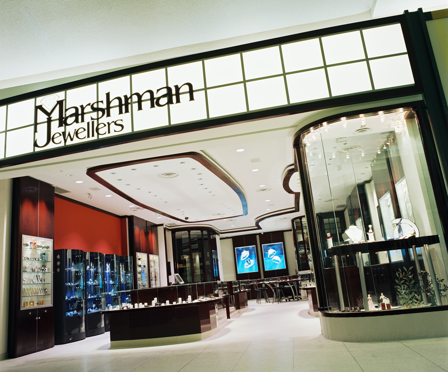 Marshman Jewellers, Jewellery Store, Custom Showcase, Lighting Design, Storefron