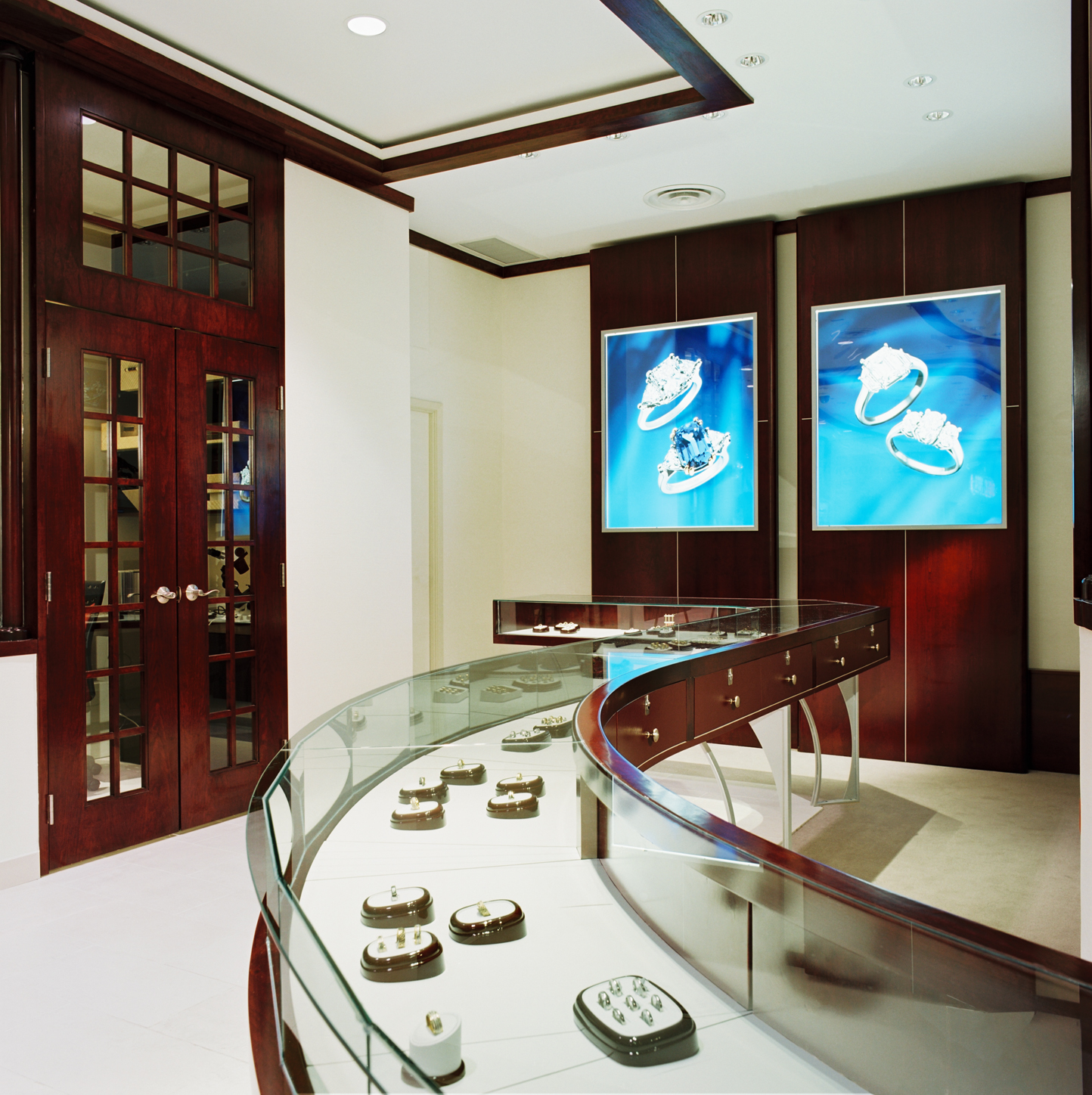 Marshman Jewellers, Jewellery Store, Custom Showcase, Lighting Design, Modern, C