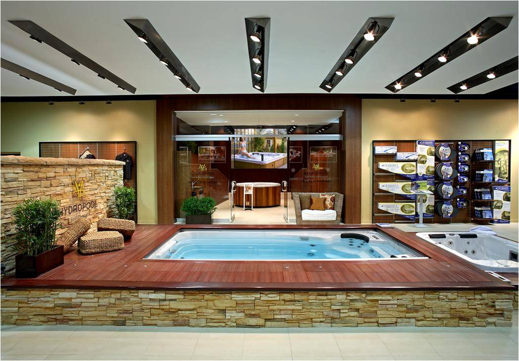 Hydropool, Swim Spa Showroom, Hot Tub Showroom, Factory Showroom, Lighting Desig
