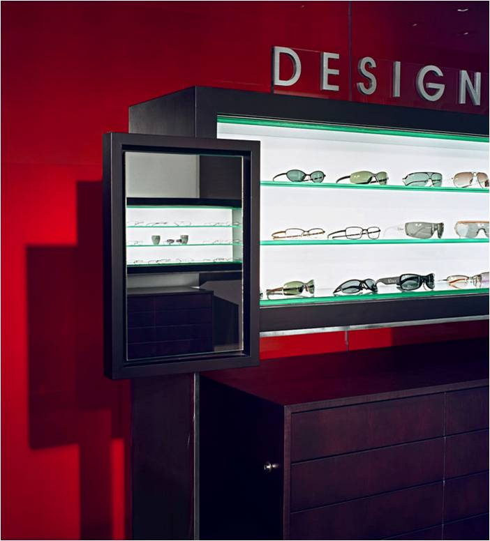 Designers Optical, Eyewear, Store, Optometry, Display Fixtures, Backlit, High En