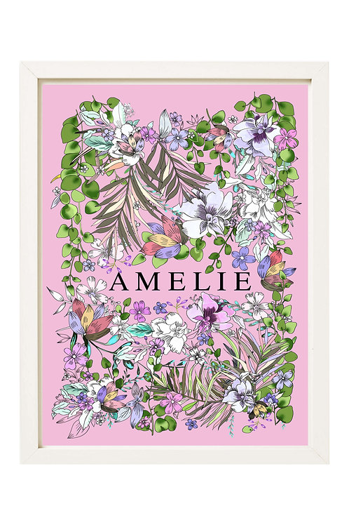 Personalised Botanical Garden Print