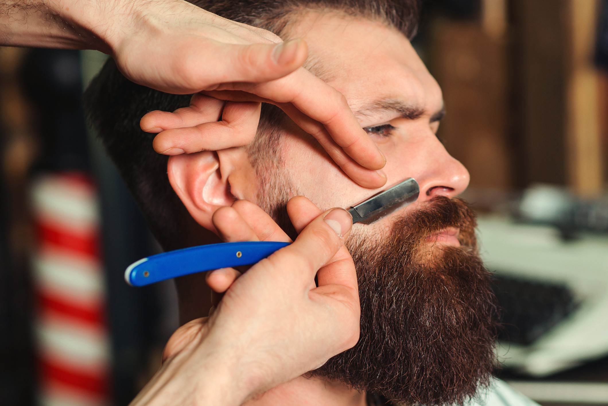 Mustache Trim and Line Up