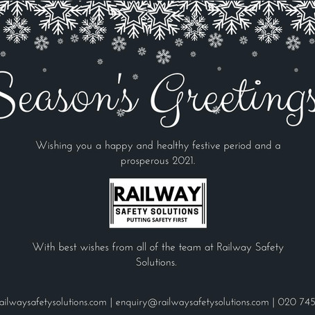 Season's Greetings from us all at Railway Safety Solutions Ltd