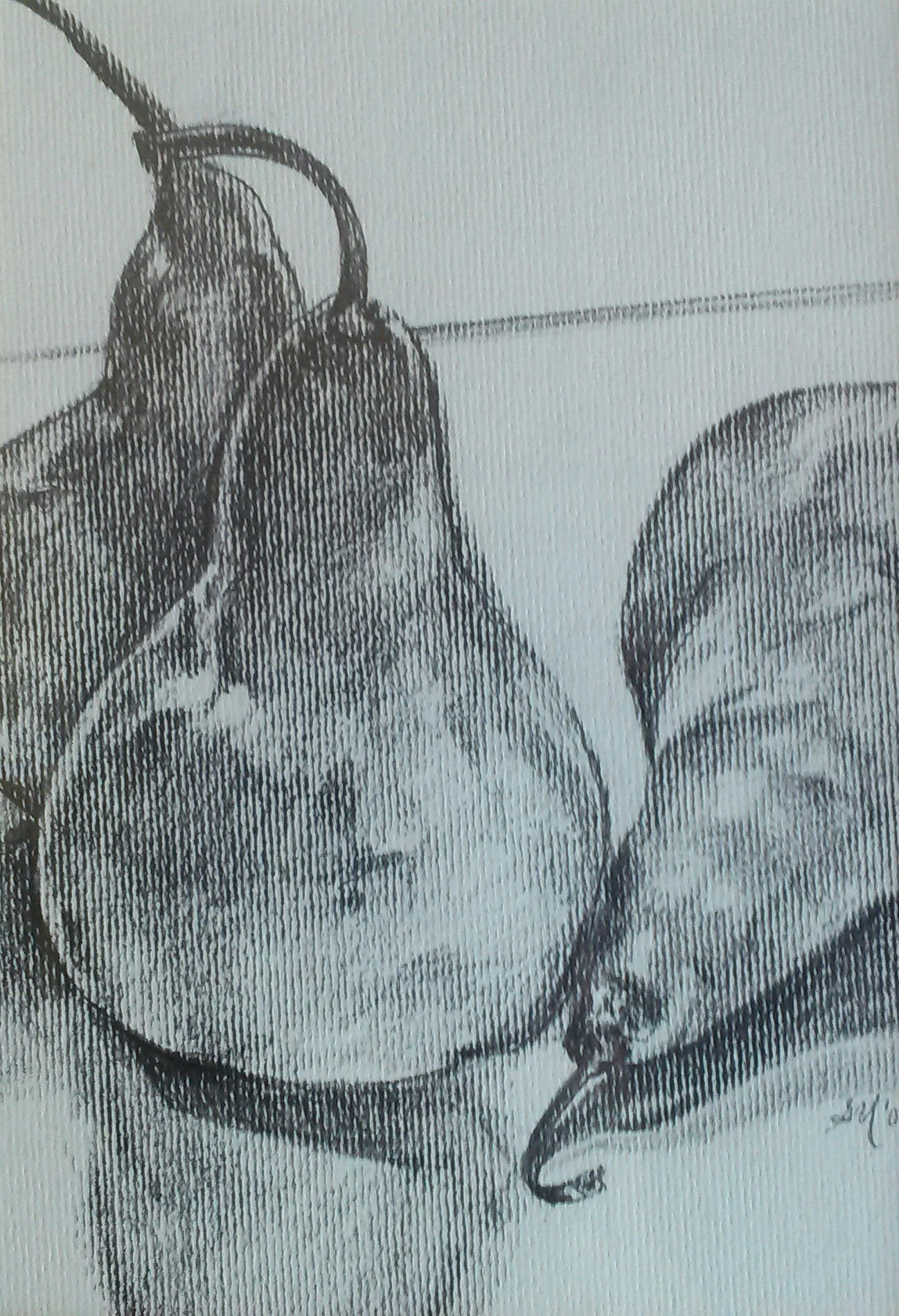 Textured Gray Pears