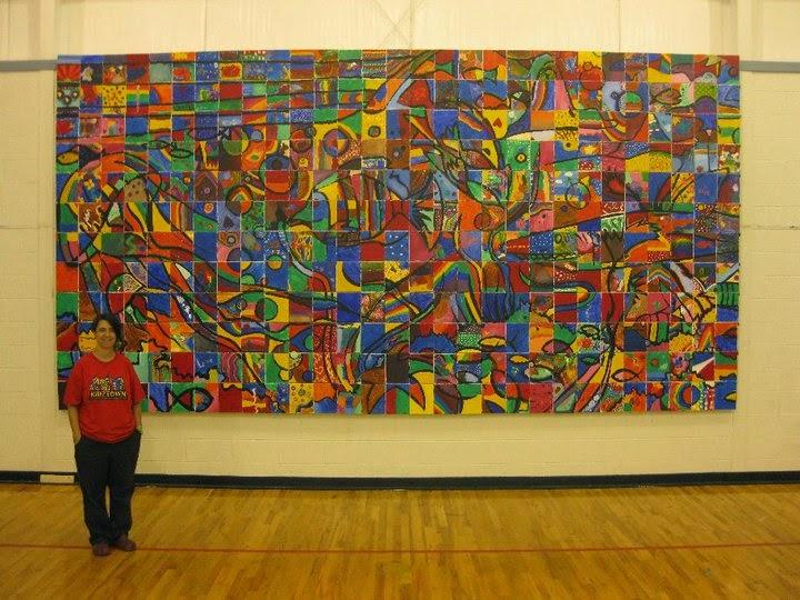 400 kids Mural