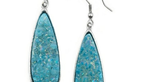 Druzy Azure Earrings