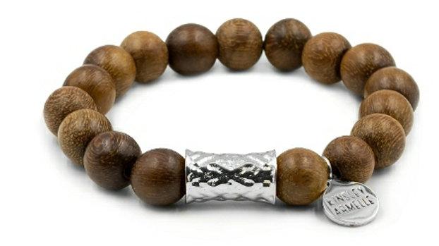 Silver Timber Bracelet
