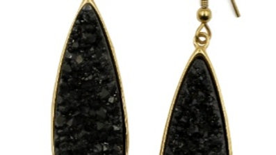 Raven Druzy Stone Earrings