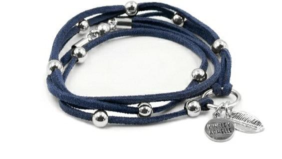 Silver Denim Bracelet