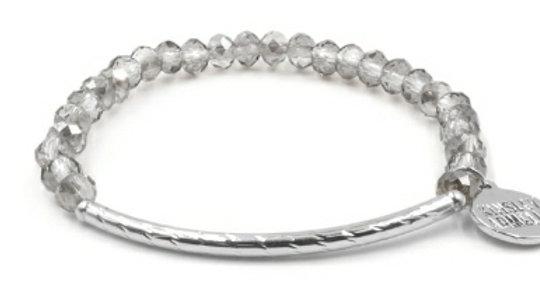 Silver Crystal Glass Bracelet