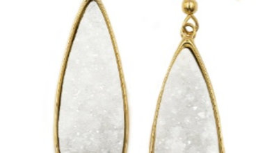 Quartz Druzy Stone Earrings