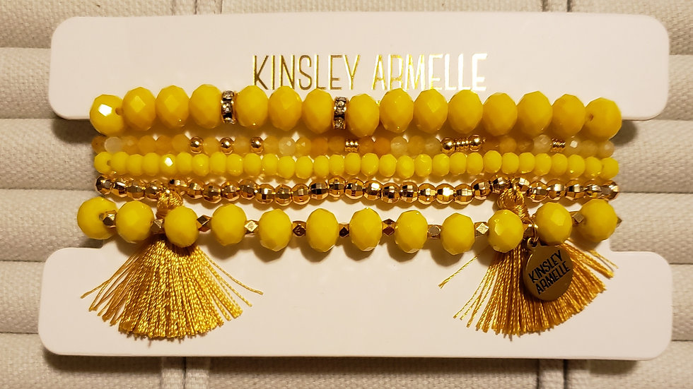 Mustard Bracelet Set