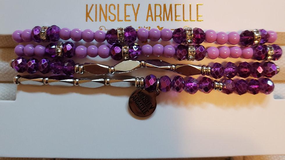 Silver Aster Bracelet Set