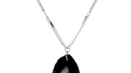 Silver Slate Necklace