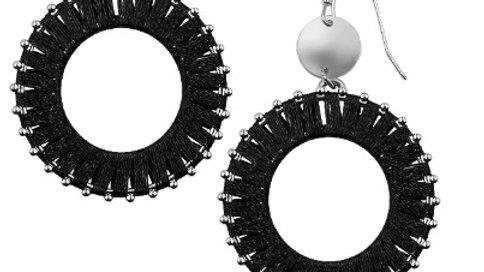 Silver Raven Earrings