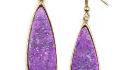 Royal Druzy Stone Earrings