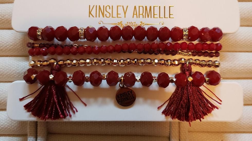 Maroon Bracelet Set