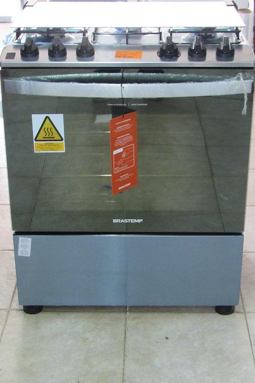 Fogão de Piso Brastemp BFS5NCR 5 Bocas Acabamento Inox Acendimento Automático