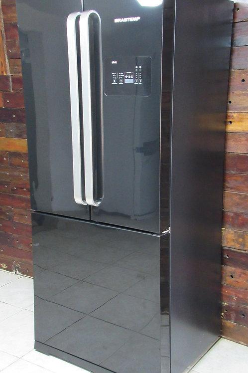 Refrigerador Brastemp Side Inverse BRO80AE com 3 Portas - 540L - Preto