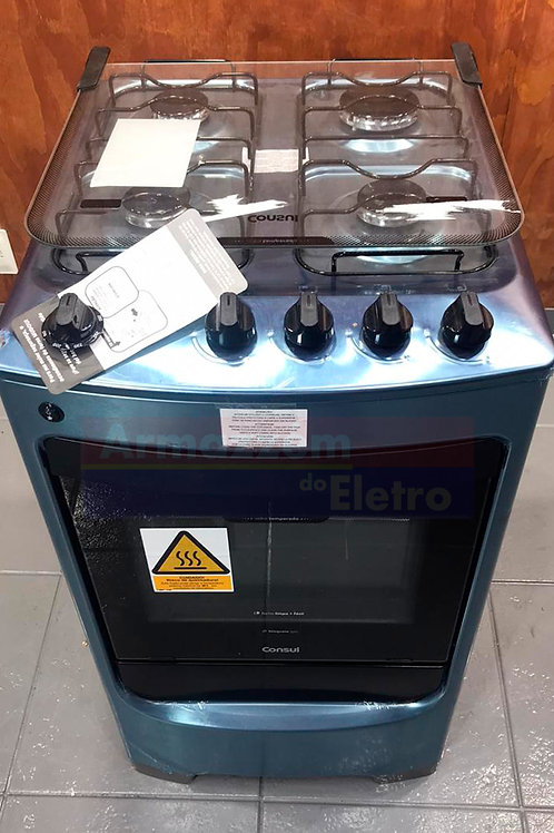 Fogão de Piso Consul CFO4VAR 4 Bocas Acabamento Inox Acendimento Automático