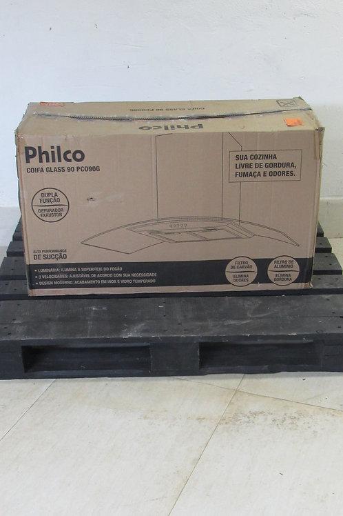 Coifa Parede Philco 90 cm Glass Inox