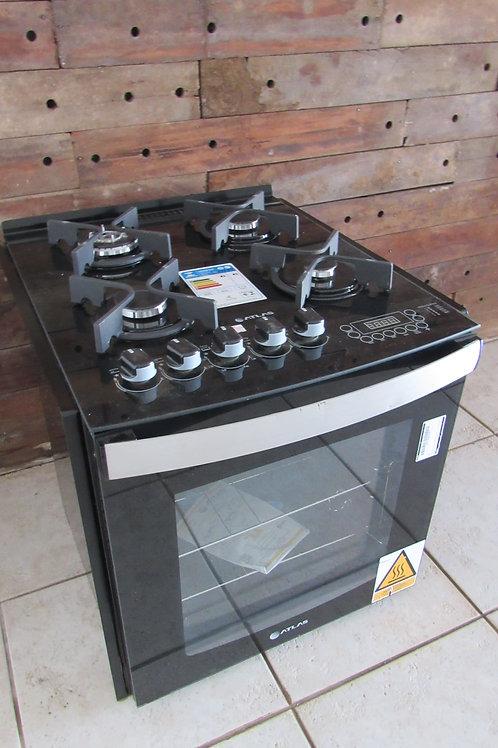 Fogão de Embutir Atlas 4 Bocas Modelo Top Gourmet Glass