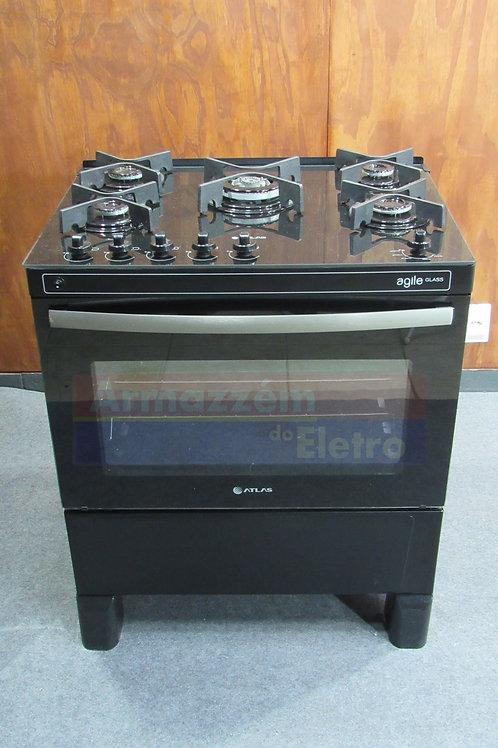 Fogão de Piso Atlas Agile Glass 5 Bocas Acendimento Automático