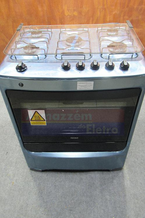 Fogão de Piso Consul CFS5NAR 5 Bocas Acabamento Inox Acendimento Automático